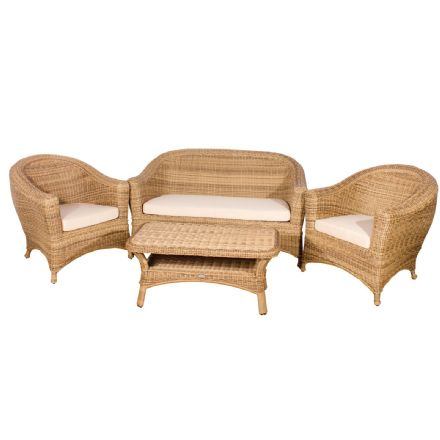 Bahama Rattan 4 Seater Lounge Set in 4 Seasons